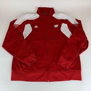Wisconsin Badgers NCAA Adidas Track Jacket